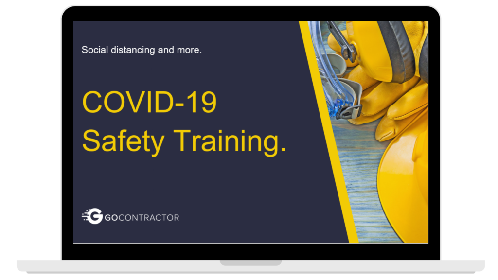 COVID 19 Safety Training website